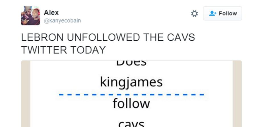 El usuario @kanyecobain fue el primero en tuitear sobre la movida de James.