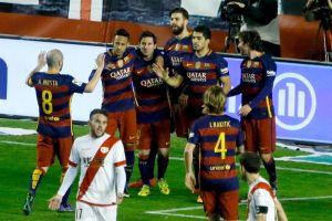 Triplete de Messi contra un Rayo disminuido