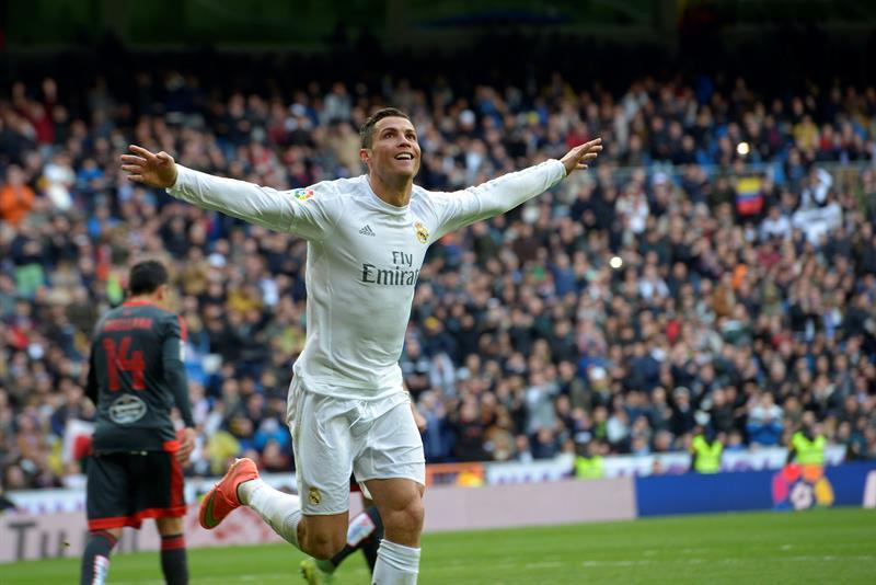 """El delantero portugués del Real Madrid, Cristiano Ronaldo, hizo un """"póker"""" en la goleada 7-1 sobre Celta de Vigo."""