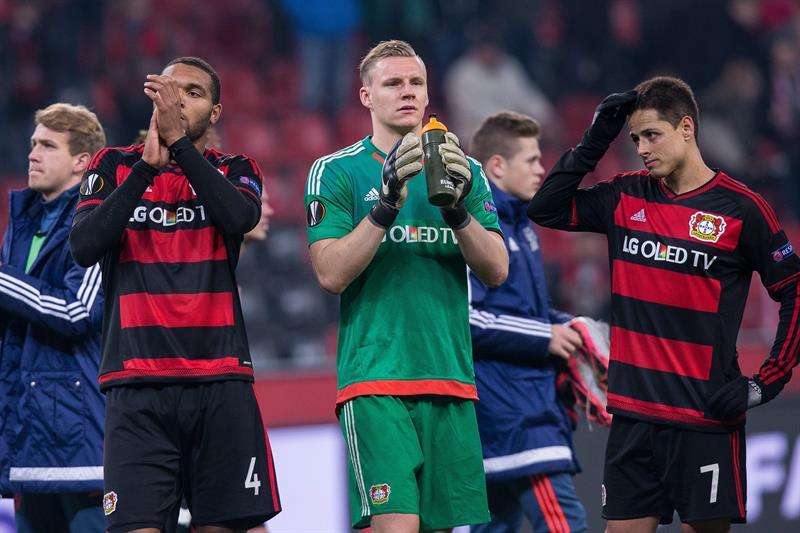 Chicharito y Bayer Leverkusen son eliminados de la Europa League