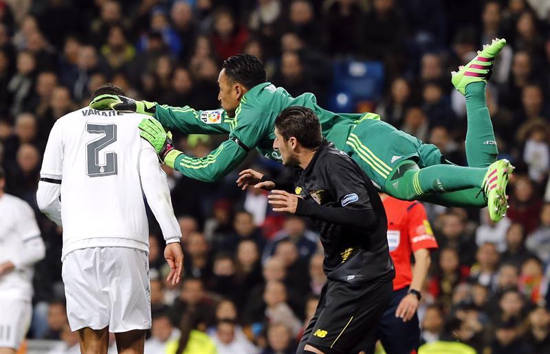Como Superman: Keylor Navas salva al Madrid atajando un penal al Sevilla