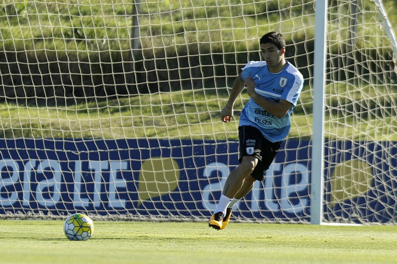 Suárez ya completó su primer entrenamiento en su regreso a la Celeste