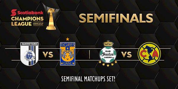 Así se jugarán las semifinales de la 'Concachampions'