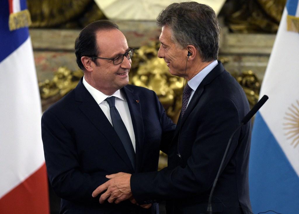 El presidente de Francia fue uno de los primeros líderes mundiales que se reunió con Macri.