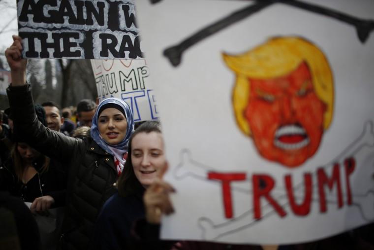 Proesta Anti-Trump en Nueva York