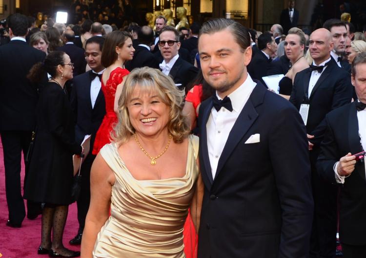 Leonardo Dicaprio y su madre