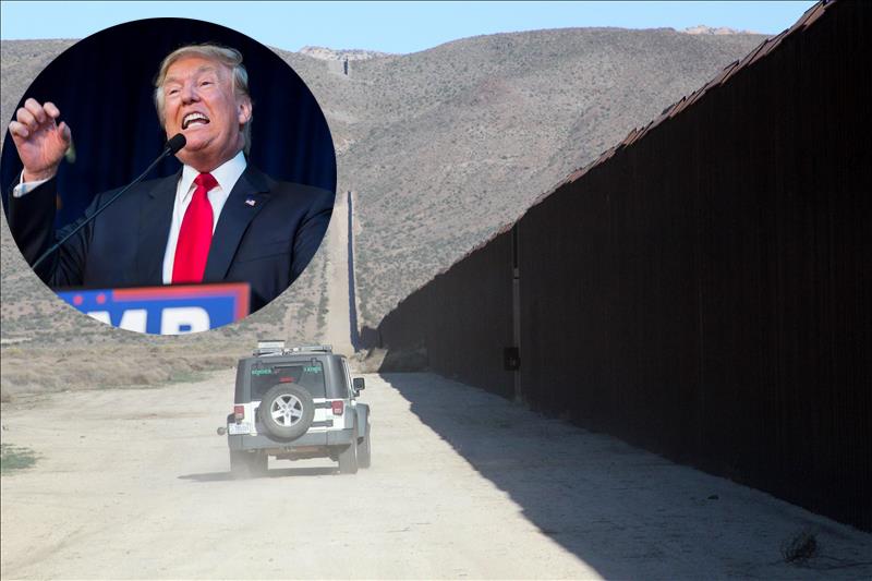 Donald Trump insiste en um muro en la frontera sur, que México debe pagar.