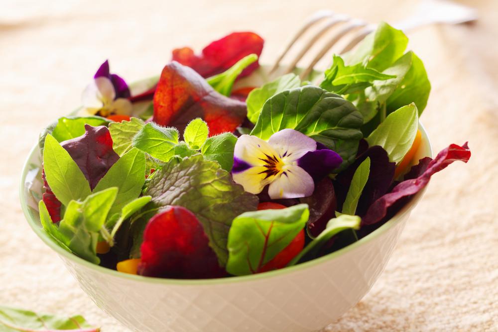 flores ensalada