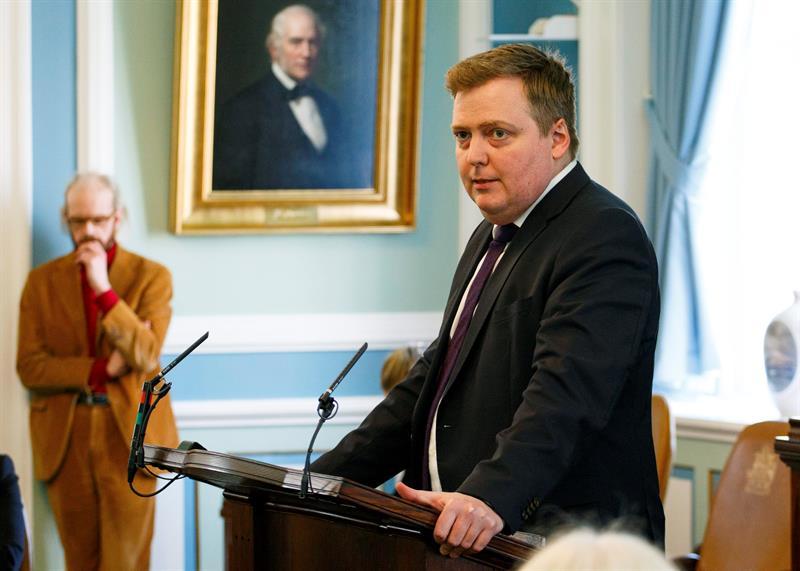Primer ministro de Islandia, Sigmundur David Gunnlaugsson.