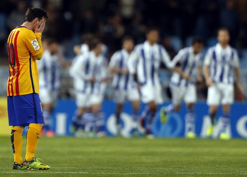 Real Sociedad 1-0 Barcelona: peligra la liga para Messi y compañía