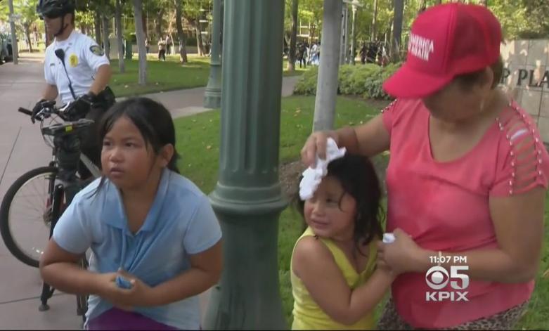 Dos niñas heridas durante manifestación a favor de Trump