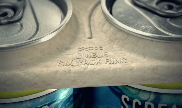 Un aplauso para la cervecera que creó un six-pack biodegradable que alimenta a los peces