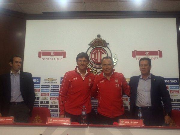 Hernán Cristante es presentado como el nuevo técnico de los Diablos Rojos del Toluca