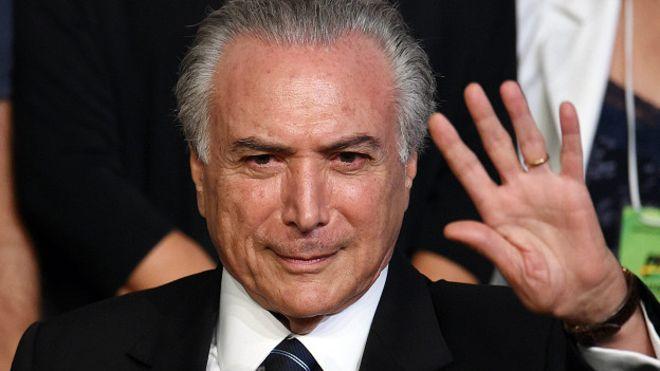 Michel Temer, el nuevo presidente interino de Brasil.