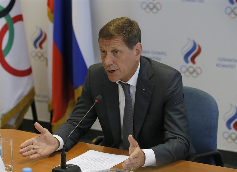 El presidente del Comité Olímpico ruso, Alexander Zhukov.