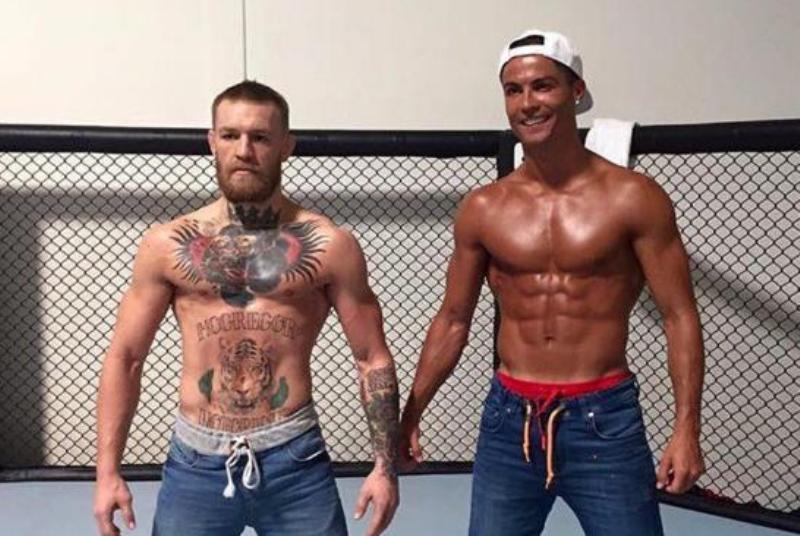 Video: Cristiano se sube al octágono con Conor McGregor
