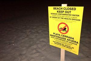 Cierran playas de Long Beach por derrame de aguas negras