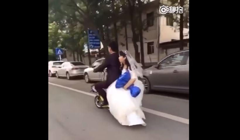Video: Lo que le pasó a este novio distraído con su nueva esposa te hará reír