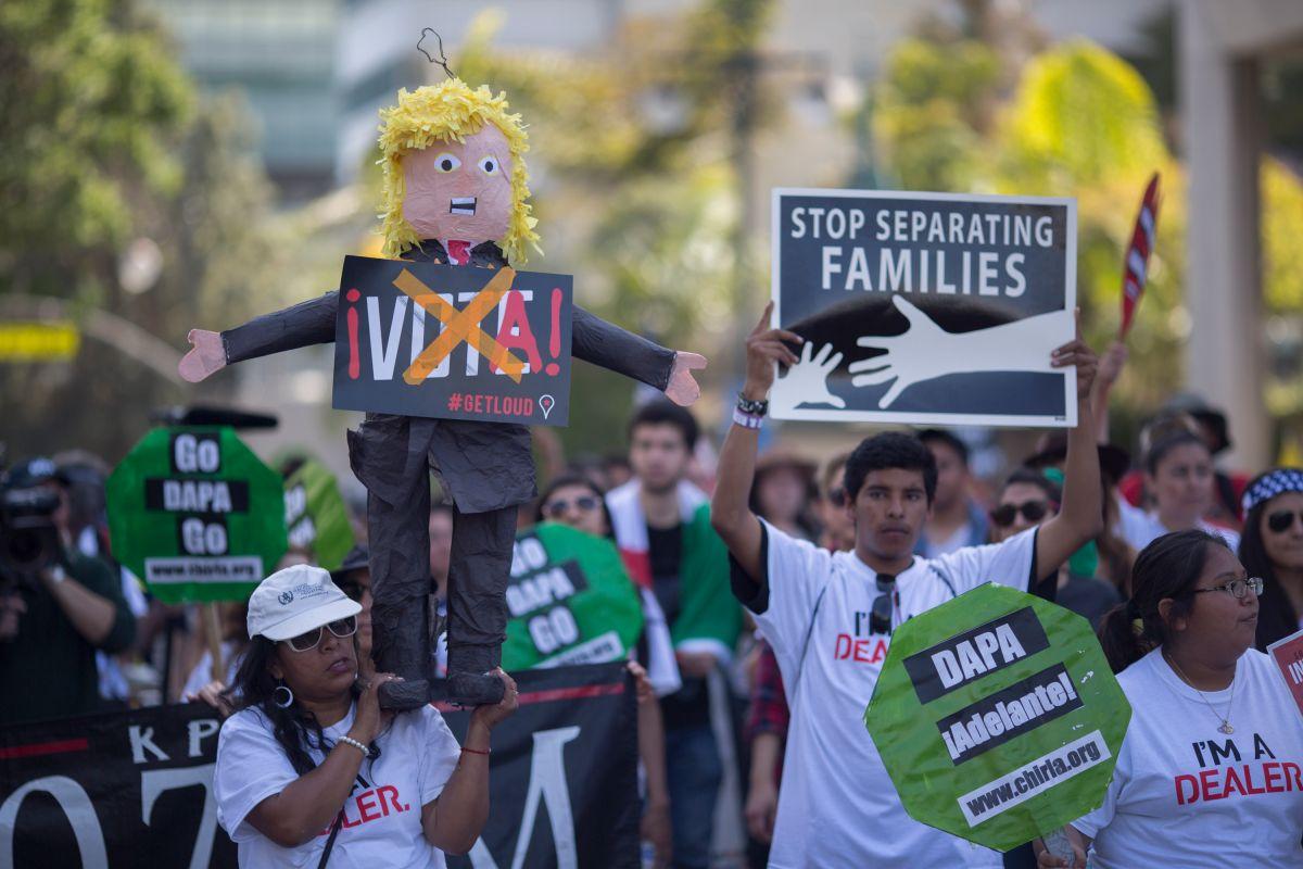 Ciudadanos de Los Ángeles en contra de Donald Trump.