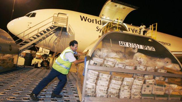 La mercancía fue descubierta en el Aeropuerto Internacional de Los Ángeles.