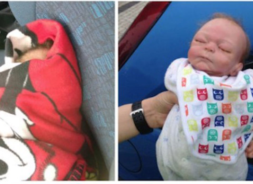 Policía rompe ventanilla de un auto para rescatar a un bebé, pero no creerás el final