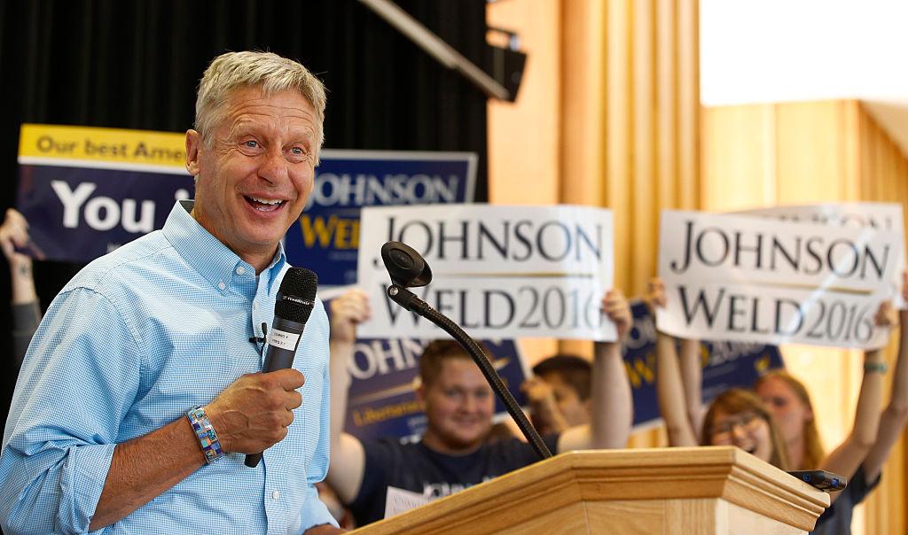 El libertario Gary Johnson. Foto: George Frey/Getty Images