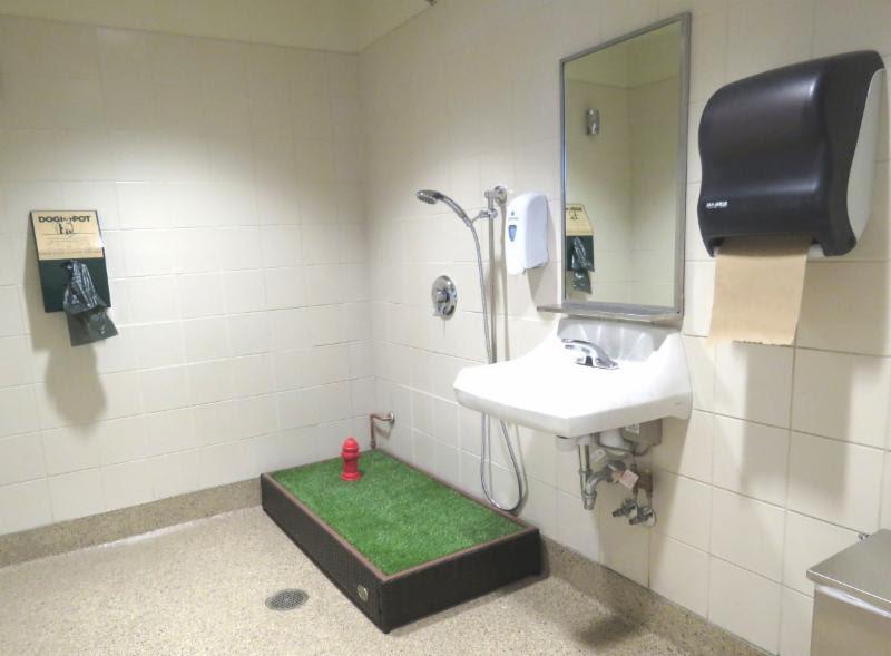 El baño para mascotas en el Aeropuerto Midway en Chicago.