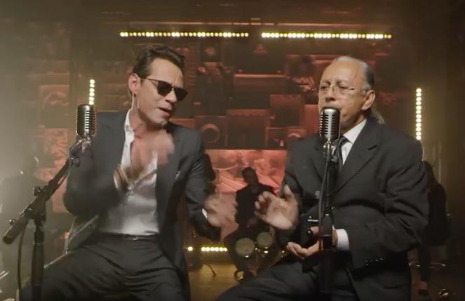 No te pierdas el dueto de Marc Anthony con su padre, de 81 años