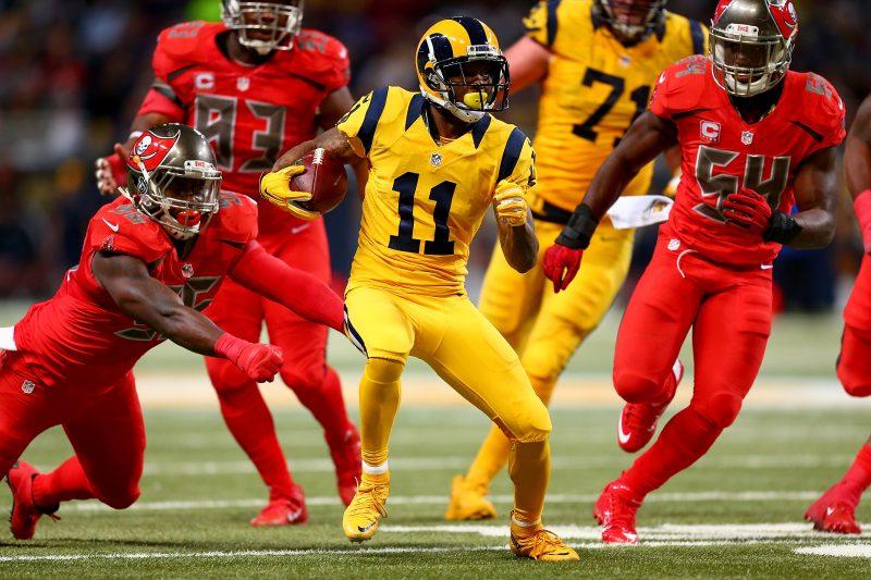 Tavon Austin (11) es el jugador más explosivo que tiene la ofensiva de los Rams y el domingo tratará de demostrarlo en su primer juego en Los Ángeles.