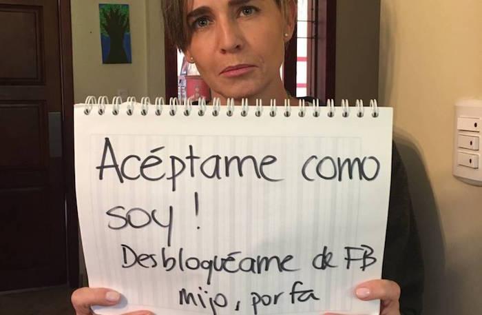 Foto viral: La súplica de una madre para que su hijo la desbloquee de Facebook