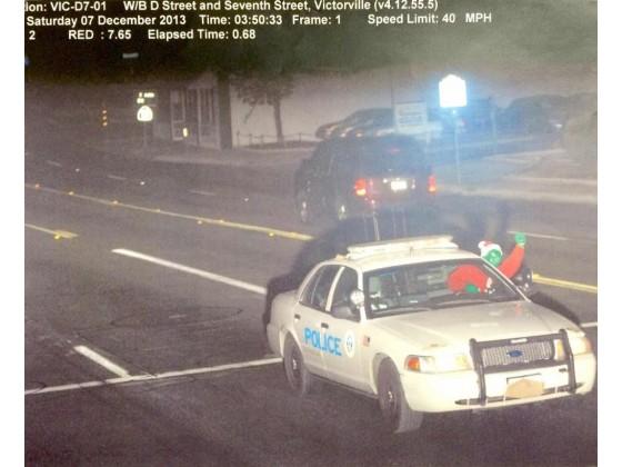Foto: ¿'El Grinch' se robó una patrulla policiaca?