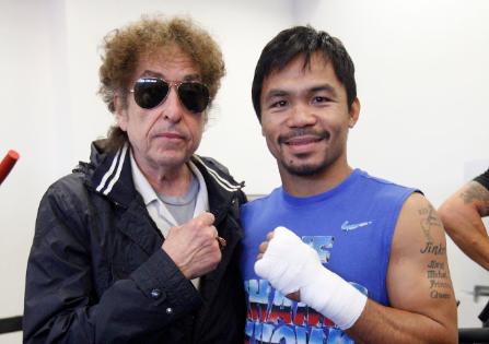 El día que Bob Dylan visitó a Manny Pacquiao y le dio suerte