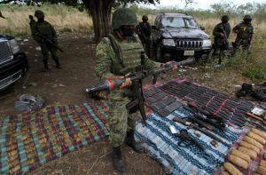 Cinco Estados mexicanos concentran decomiso de armas