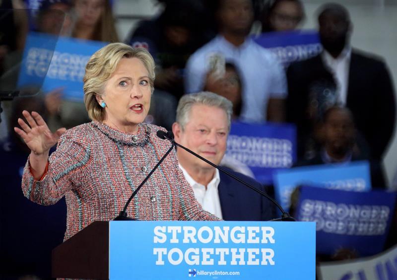 Hillary Clinton, candidata demócrara a la presidencia de EEUU.