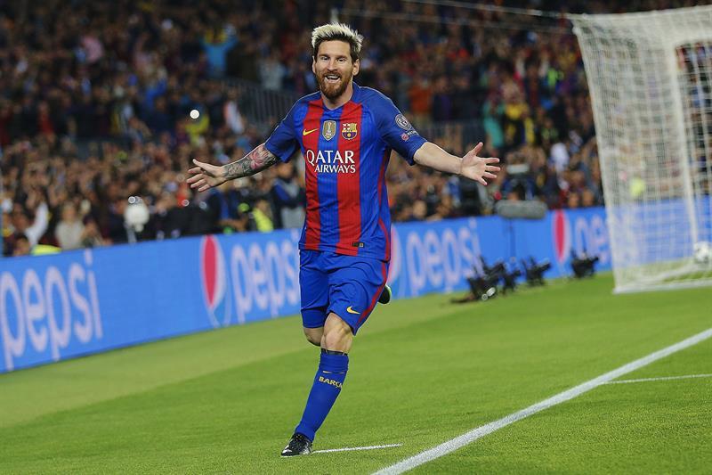 Lionel Messi marcó tres goles frente al Manchester City.