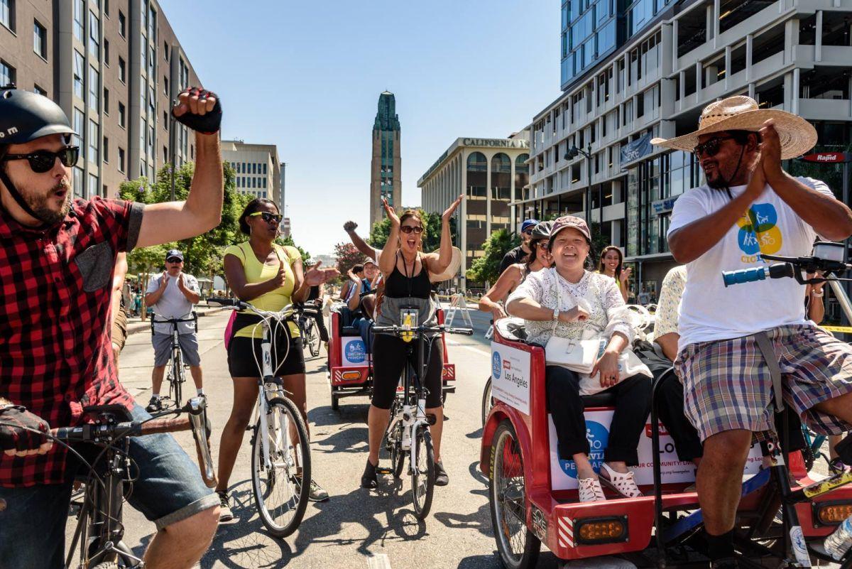 Heart of LA es un evento que vacía de coches durante unas horas las calles del centro de Los Ángeles para disfrute de los ciclistas y peatones.