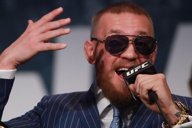 Conor McGregor sale con un nuevo berrinche