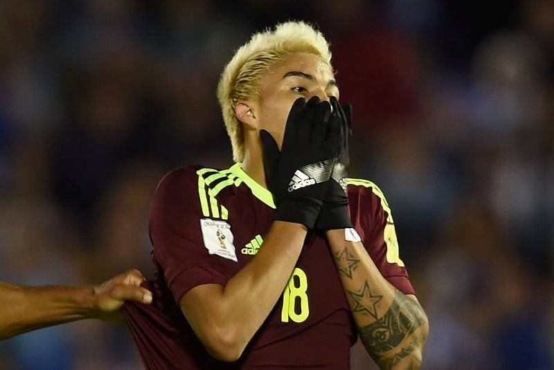 Video: No vas a creer la que falló este jugador venezolano ante Uruguay