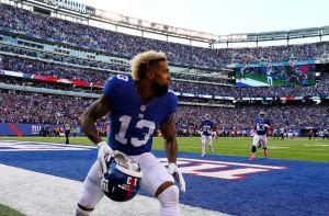 Despierta el fenómeno: Beckham explota con 222 yardas por recepción en el triunfo de los Giants