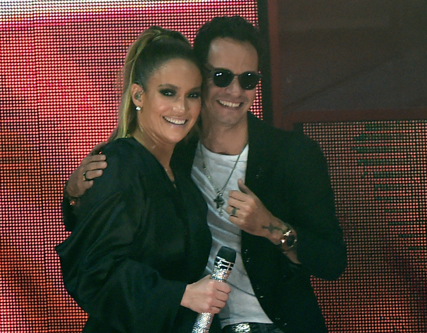 Jennifer Lopez y Marc Anthony.