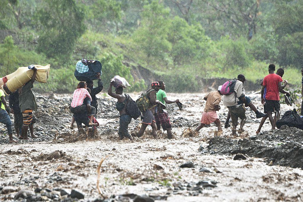 Los destrozos que dejó Matthew en Haití.