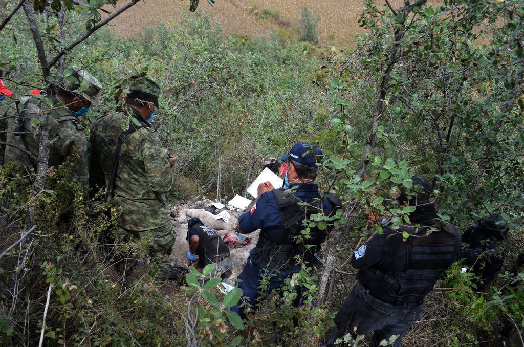 Fosas clandestinas en México.