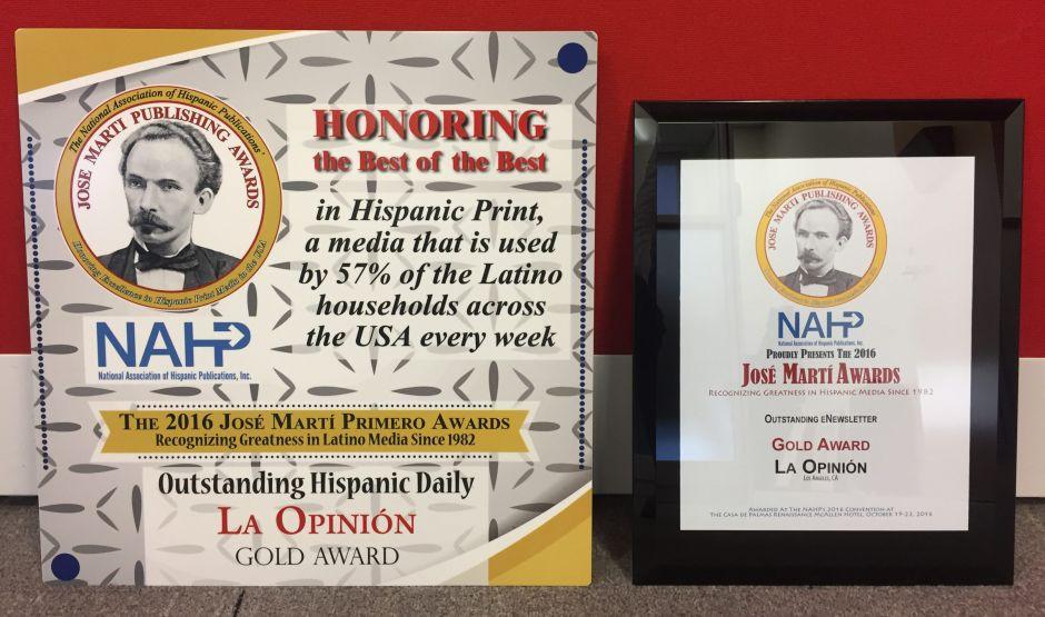 La Opinión es el Mejor Diario Hispano de EEUU, según la NAHP