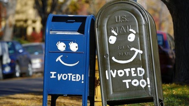 En las elecciones presidenciales de 2012 en torno a 22% de todos los votos fue emitido por correo.