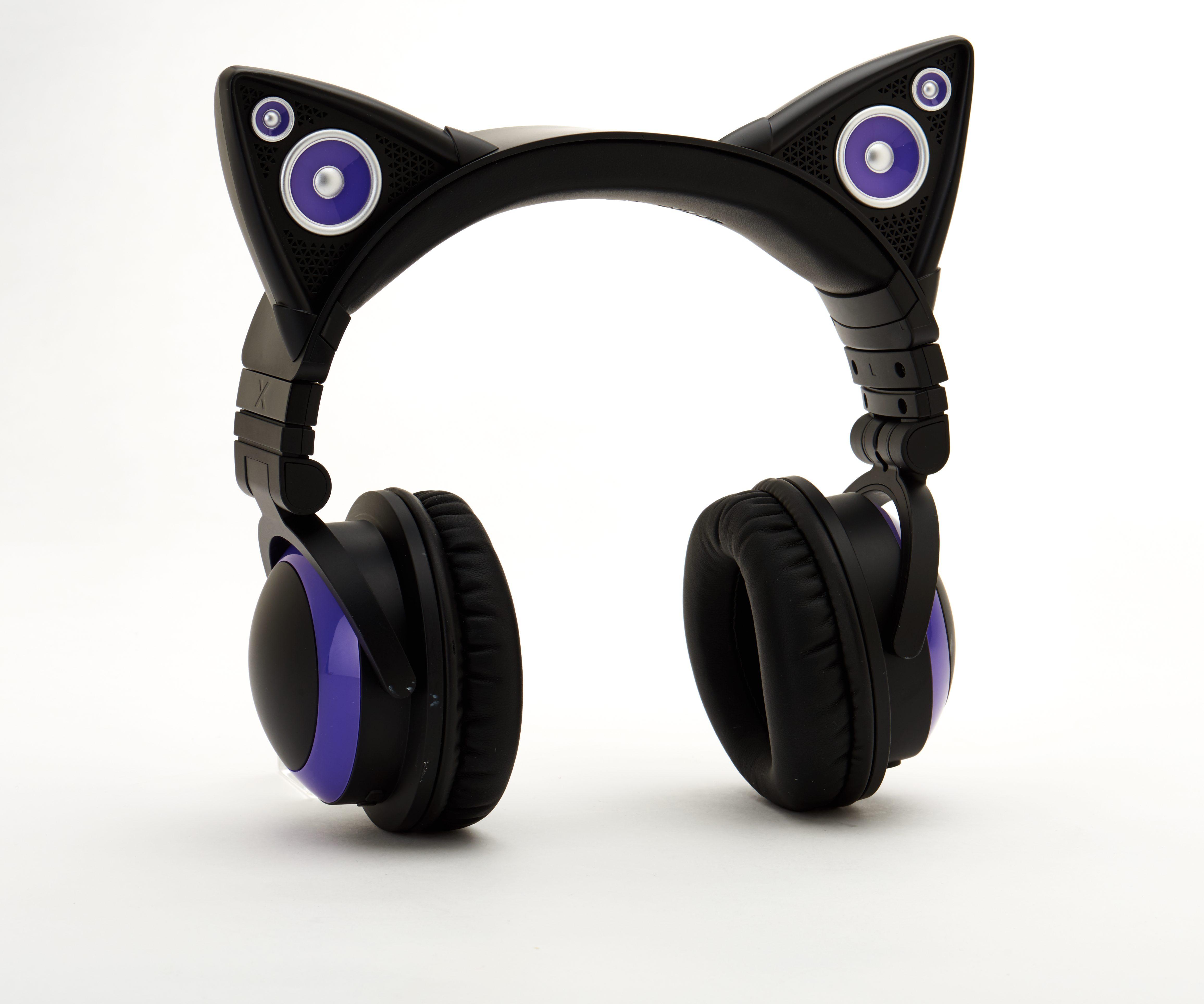 Audífonos Brookstone al estilo de orejas de gato.