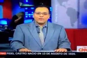 Video: Presentador de CNN mete la pata al anunciar la muerte de Fidel Castro