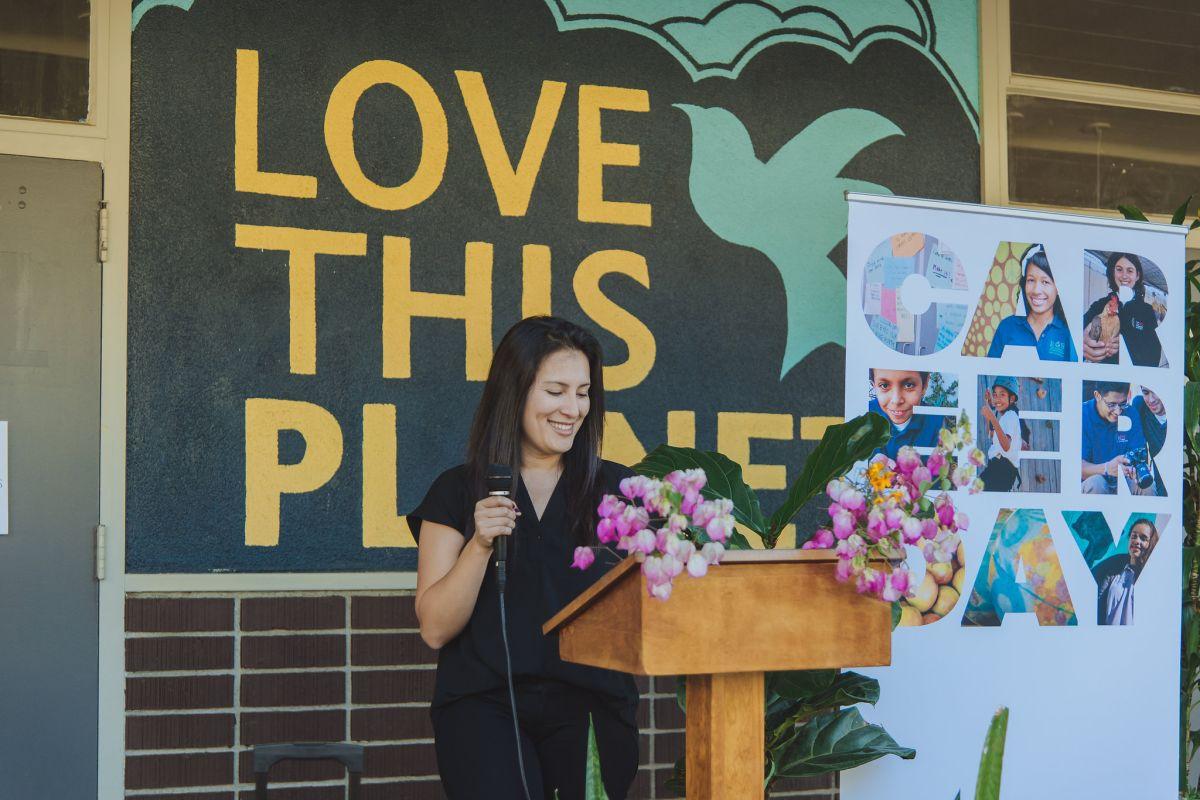 Katherine C. Villoria es la directora de la escuela Environmental Charter High School, en Lawndale. (Foto: David Montejano)