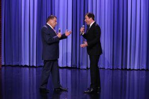 Don Francisco con Jimmy Fallon en 'The Tonight Show'
