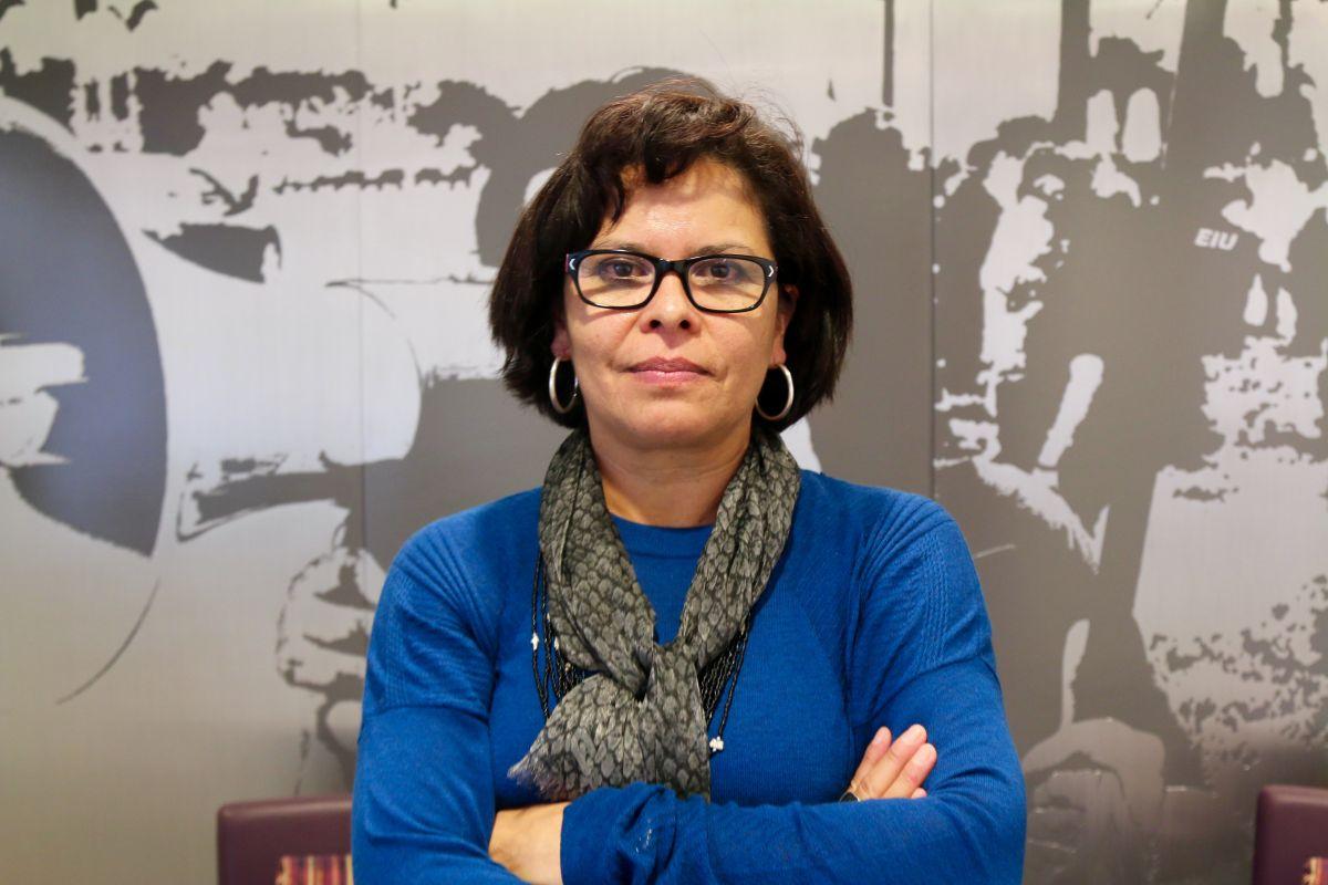 Rocío Sáenz, vicepresidenta ejecutiva del sindicato SEIU / Foto: María Peña/Impremedia