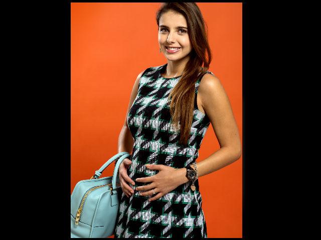 Michelle Renaud contó algunos detalles de su boda y su embarazo